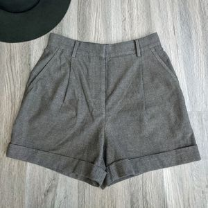 Wilfred Brown Flannel Dress Shorts Size 6